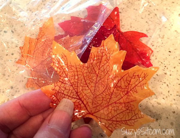 Easy to make single use fall leaf soaps for Fall soap scents