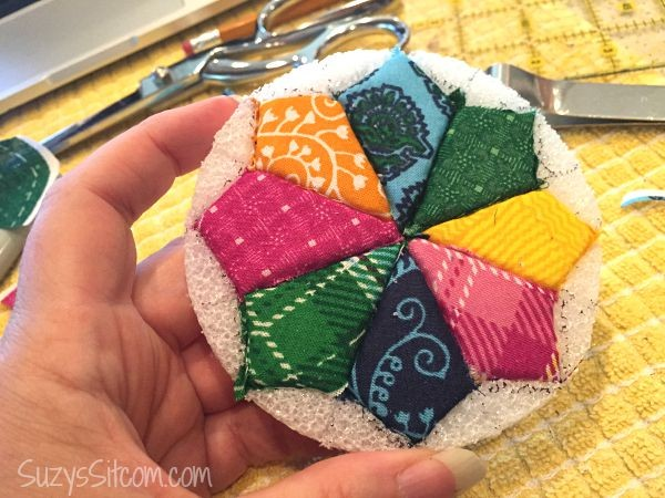 faux quilted coasters