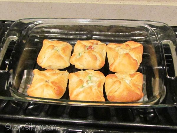 savory chicken and bacon pockets