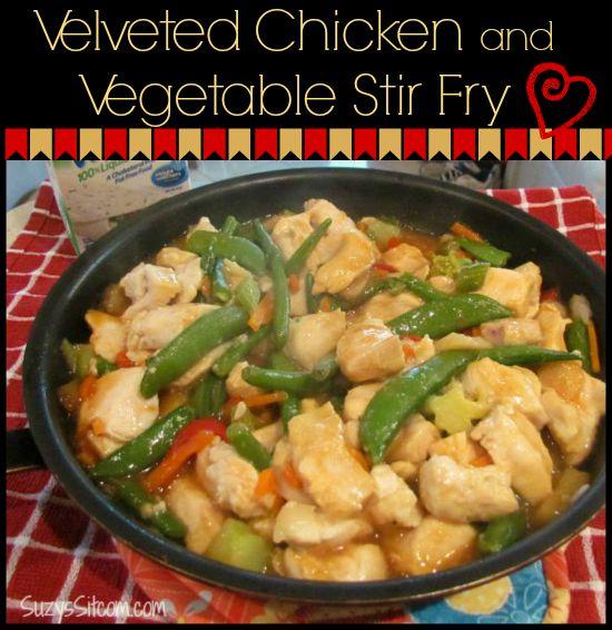 velveted chicken and vegetable stir fry