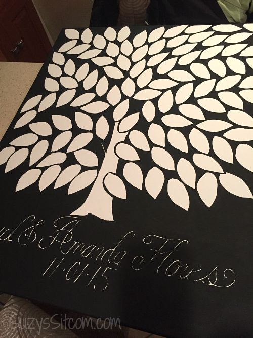 Relatively DIY Tree of Life Wedding Guest Book on Canvas YY54