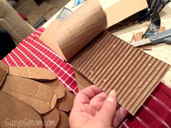 recycled cardboard angel