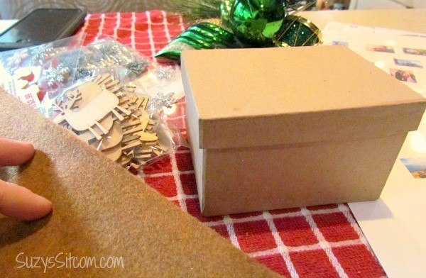 miniature vintage memory suitcase ornament diy