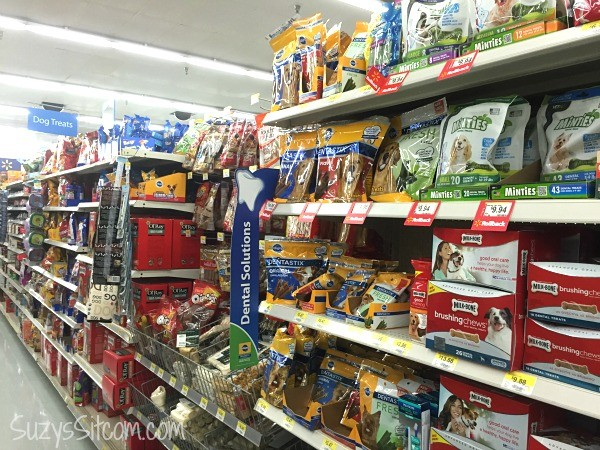 walmart dog treats aisle