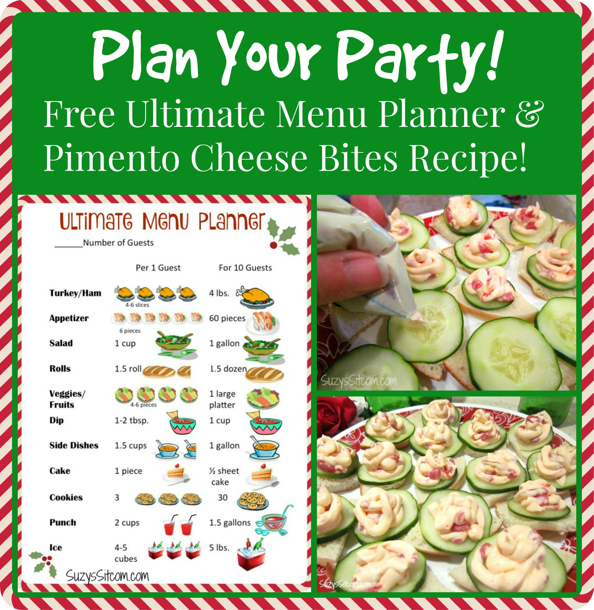 plan your party ultimate menu planner and pimiento cheese bites recipe