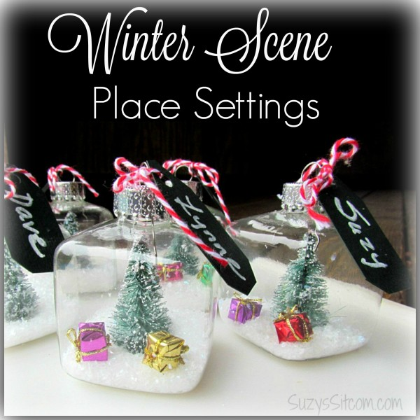 winter scene place settings