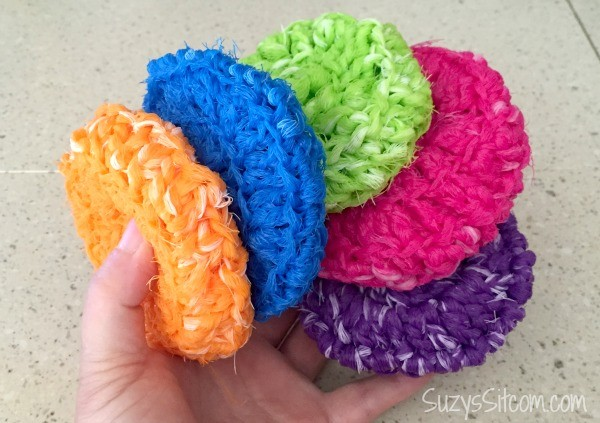 Crochet Patterns Scrubbies : ... are my version of crocheted pot scrubbies made from nylon netting
