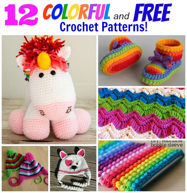 12 colorful and free crochet patterns