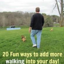 20 fun ways to add more walking