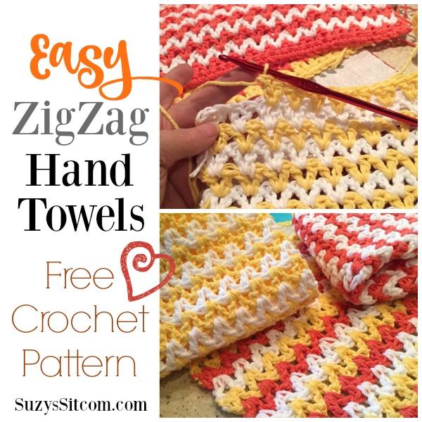 Easy ZigZag Hand Towel Crochet Pattern