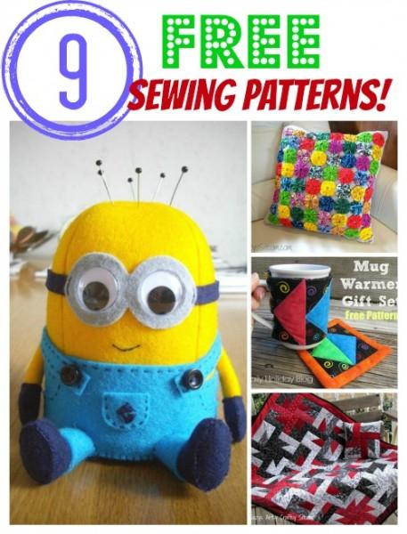 9 free sewing patterns