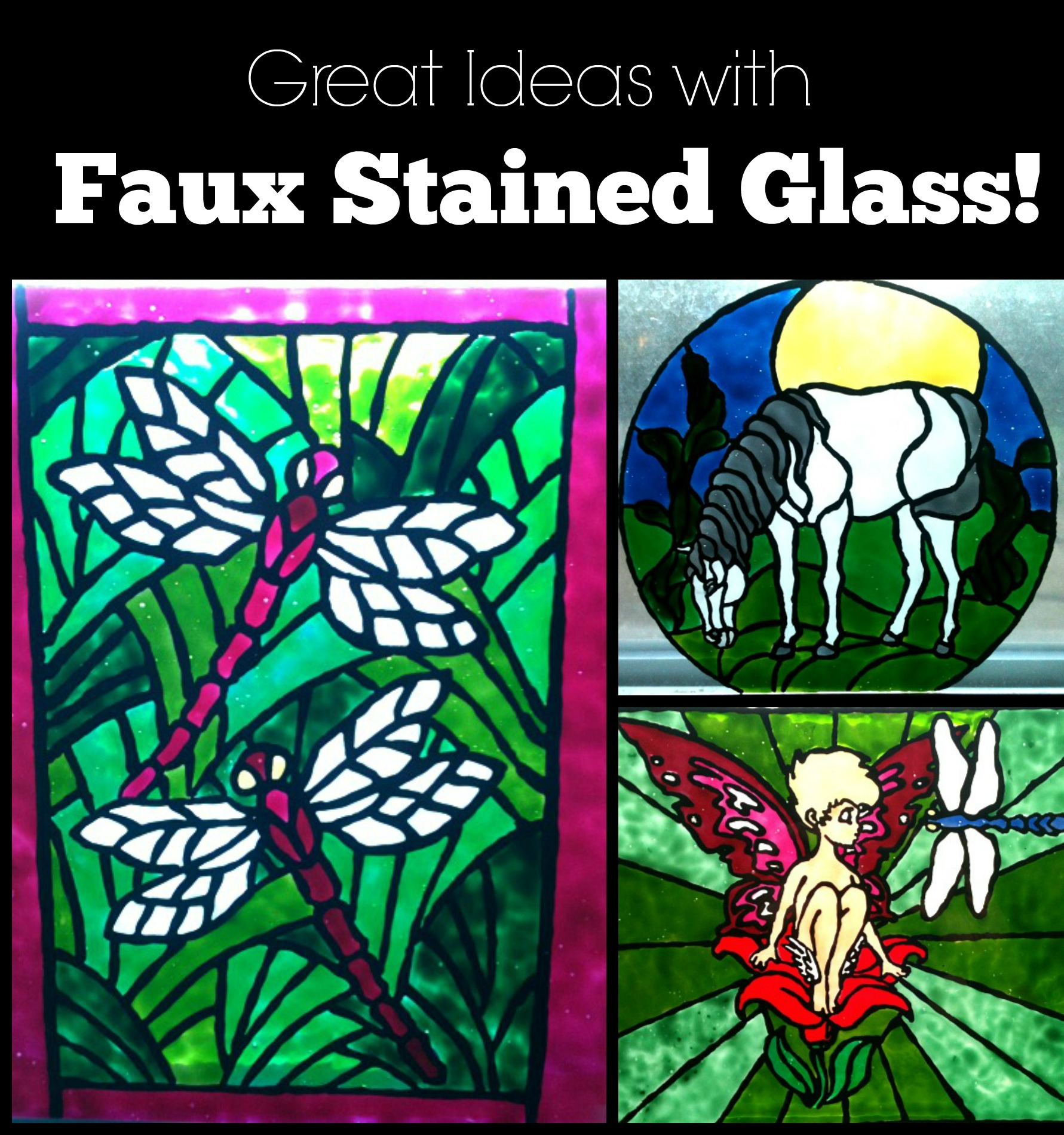 Faux Stained Glass Painting Techniques