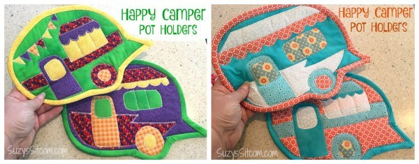 happy camper potholders pattern