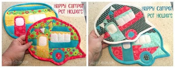 happy camper potholders pattern