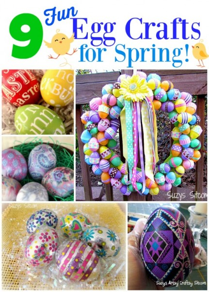 9 Fun egg craft ideas for Spring!