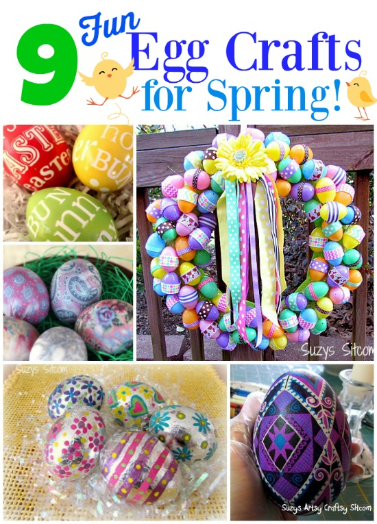 9 Fun egg craft ideas for Spring!