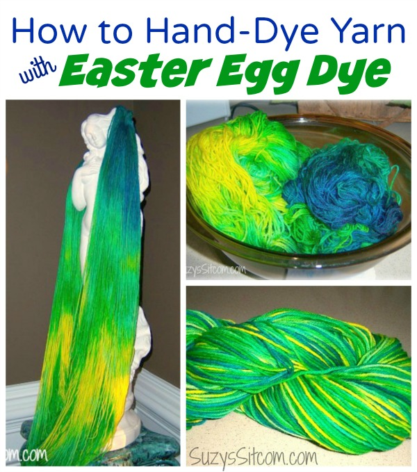 hand dying yarn with egg dye