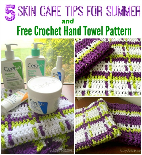 crochet pattern plaid hand towels