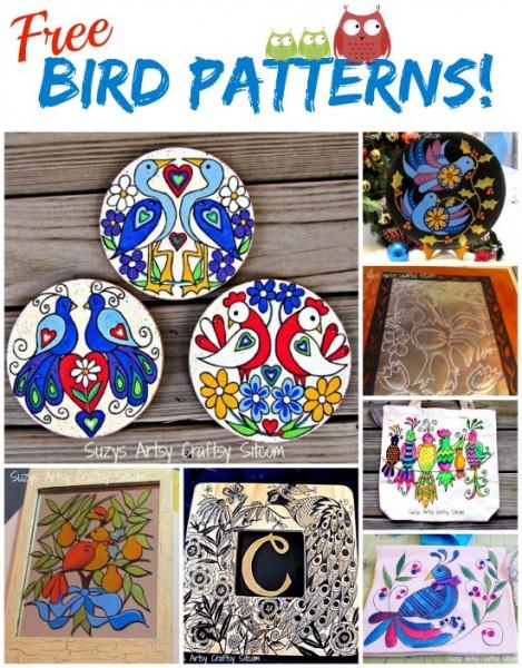 7 free bird patterns