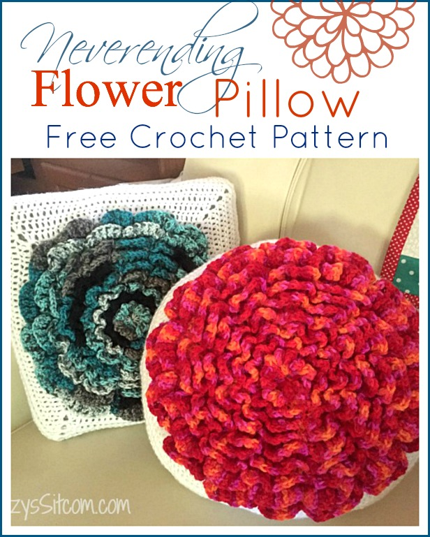 Never Ending Flower Pillow Crochet Pattern
