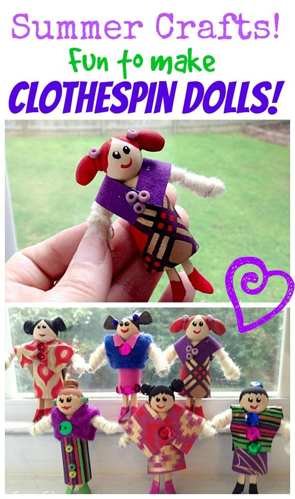 kids craft clothespin dolls