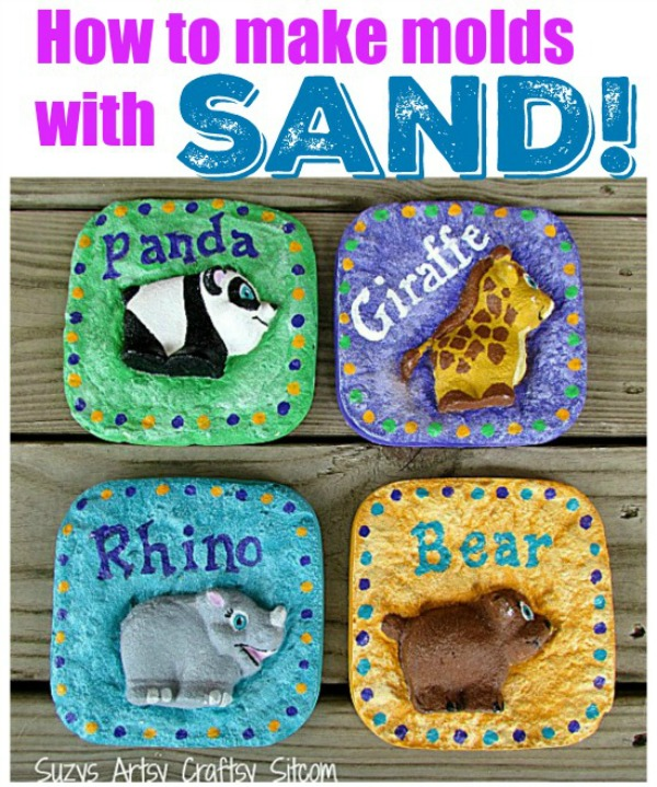 Summertime Kids Crafts! Sand Molds DIY tutorial for kids! | Design Dazzle
