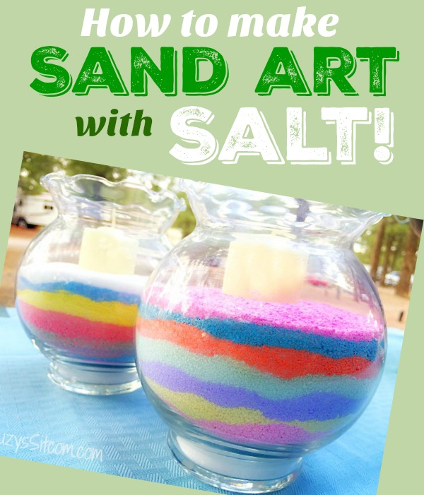 how to make sand art with salt