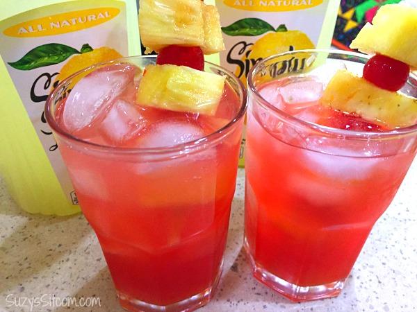 pineapple cherry lemonade