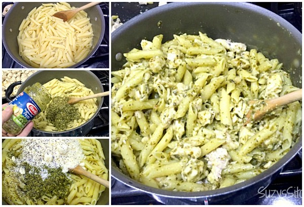 grilled chicken pesto pasta
