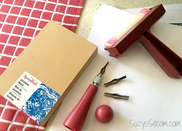 Carving linoleum for stamps is just one of many ways to create your ...