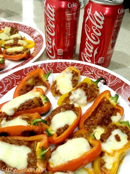 party fun with chorizo stuffed grilled peppers
