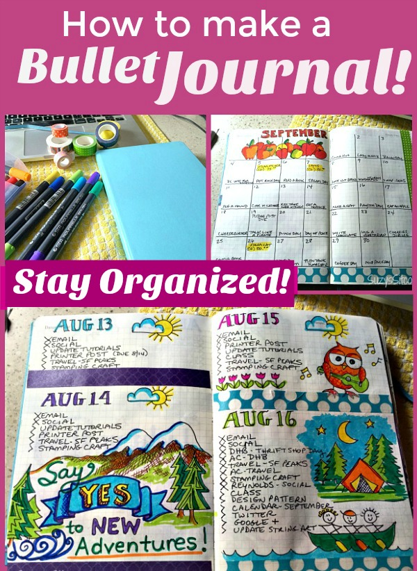 how to make a bullet journal and stay organized