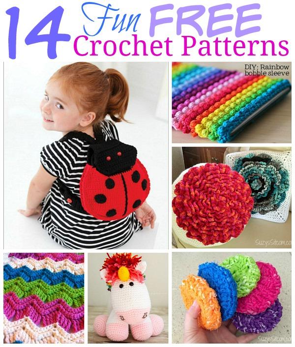 14 Fun Free Crochet Patterns