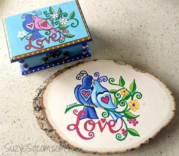 love birds words to live by painting diy10