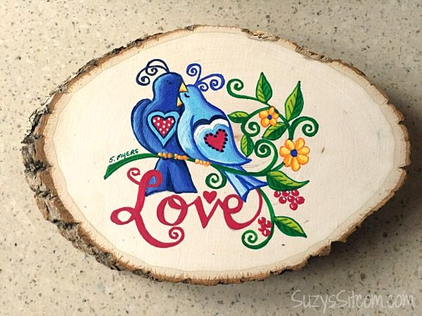 love birds words to live by painting diy12