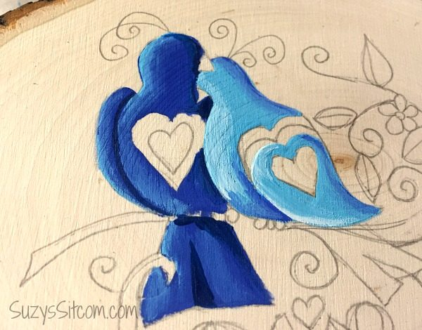 love birds words to live by painting diy6