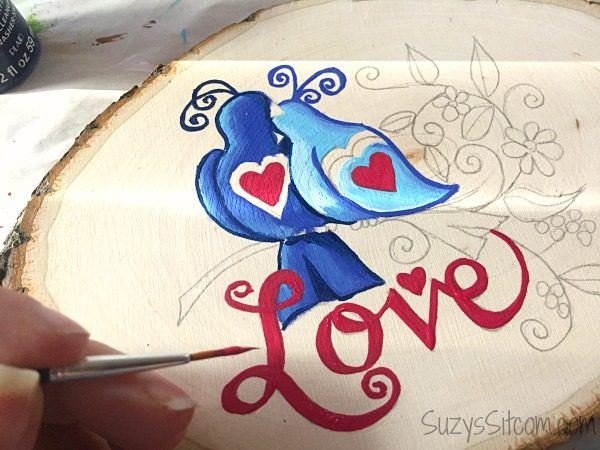 love birds words to live by painting diy7