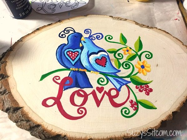 love birds words to live by painting diy8