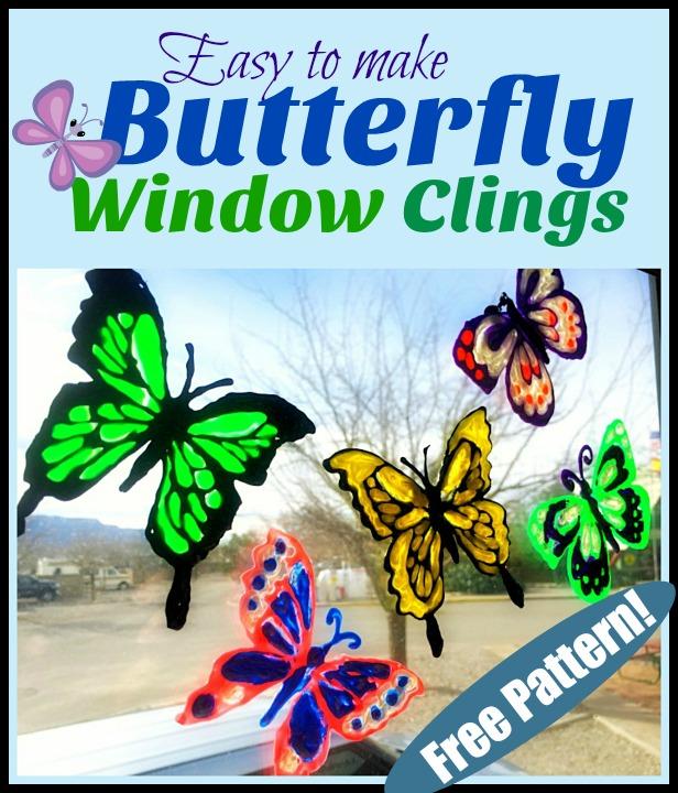 Make Beautiful Butterfly Window Clings