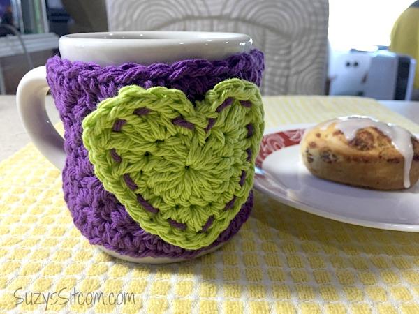 Free Crochet Pattern Heart Mug Cozy