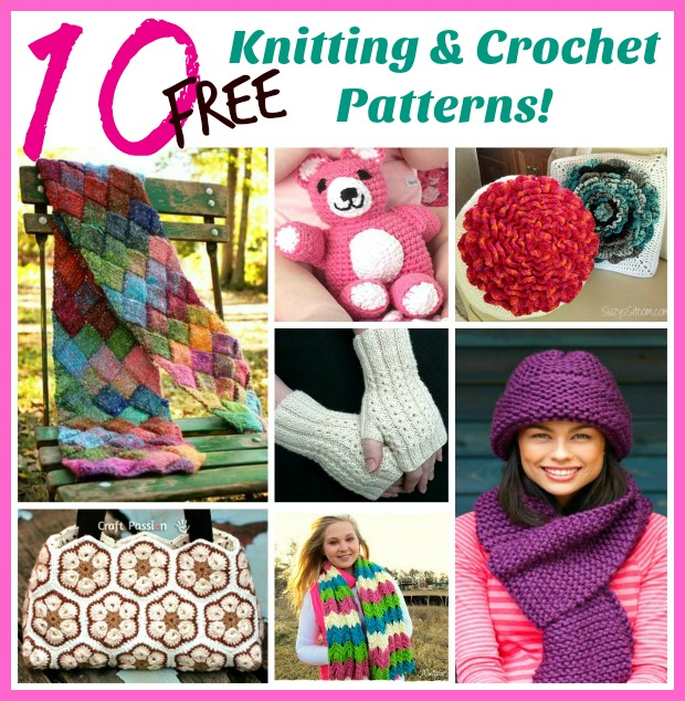 10 Free Knitting And Crochet Patterns