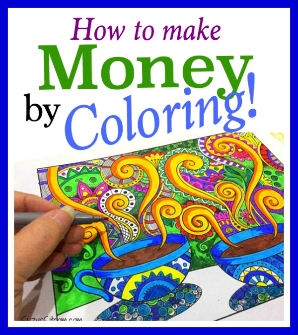 How to make money by coloring!