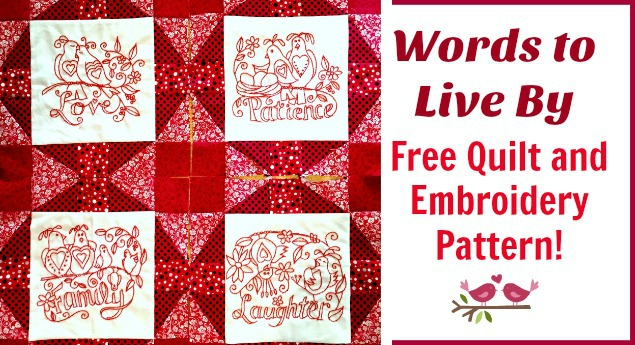 free quilt pattern embroidery