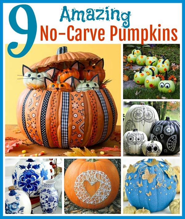 9 Amazing No-Carve Pumpkin Ideas! - photo#4