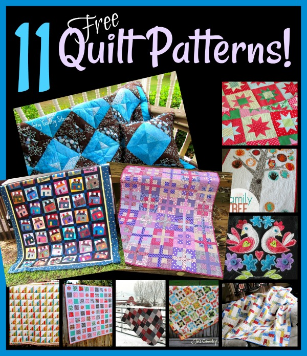 11 Free Quilt Patterns to make!