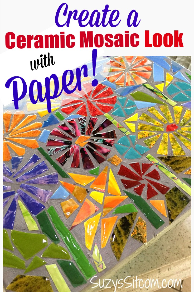 Recycled magazine art: How to create a ceramic mosaic look with paper