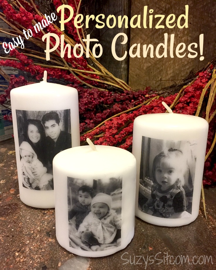 Easy gift idea! DIY Personalized photo candles