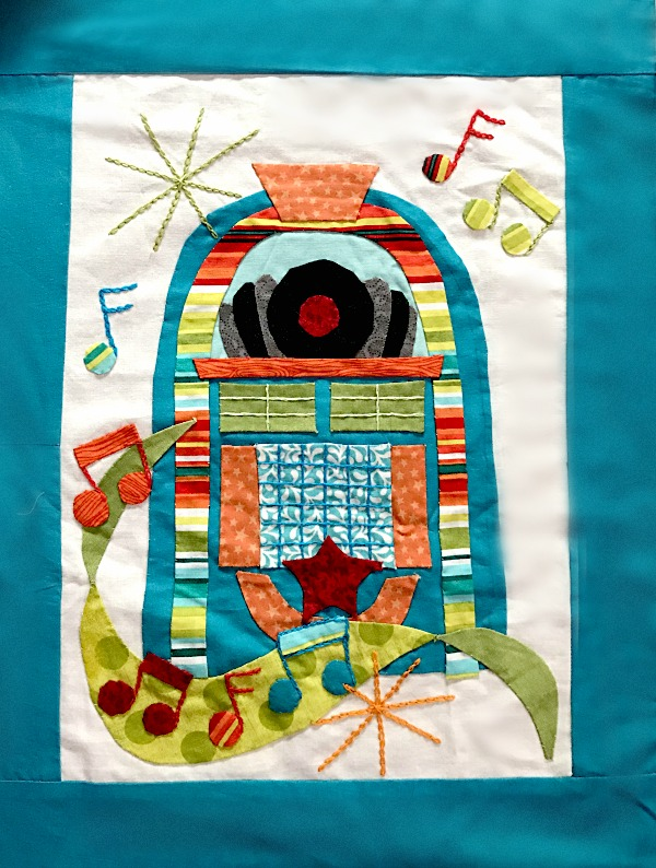 Retro Flash Sew Along- block #5- Juke Box