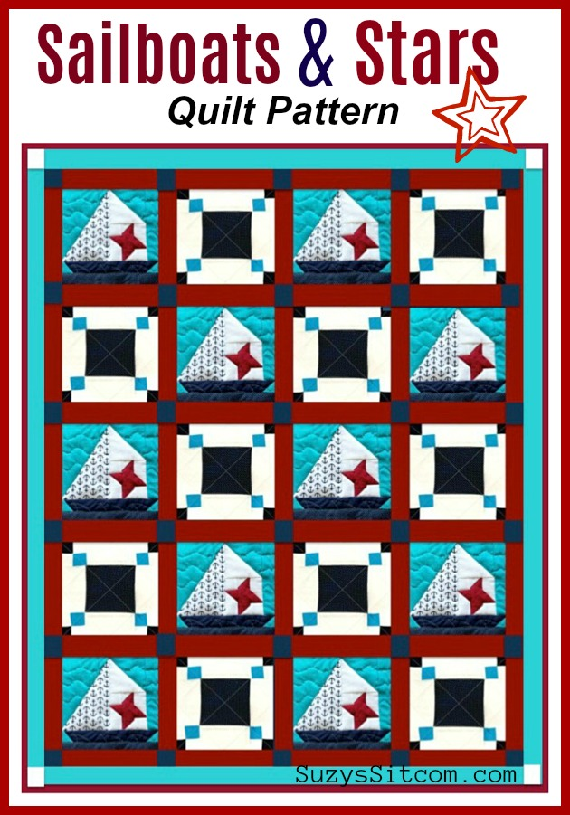 sailboats and stars quilt pattern block of the month