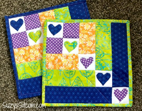 Block Of The Month Quilt Pattern Hearts In A Row